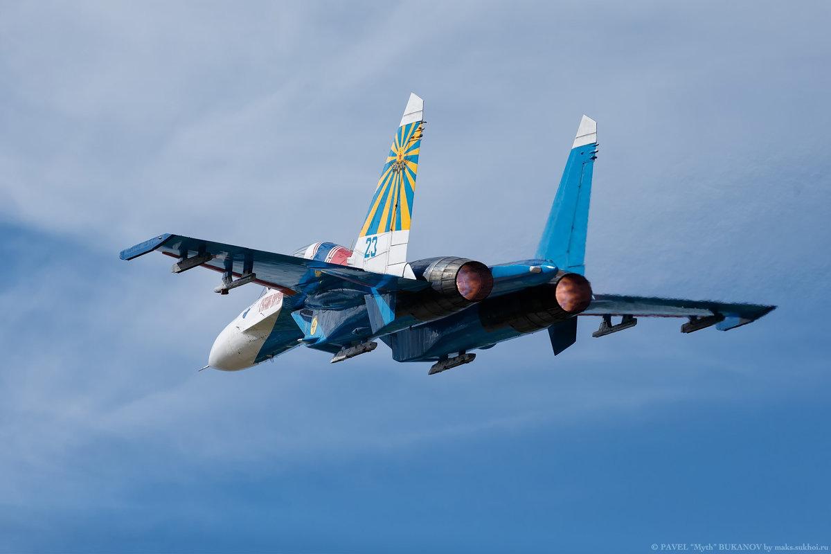 "Су-27УБ ""Русские Витязи"", проход на форсаже - Павел Myth Буканов"