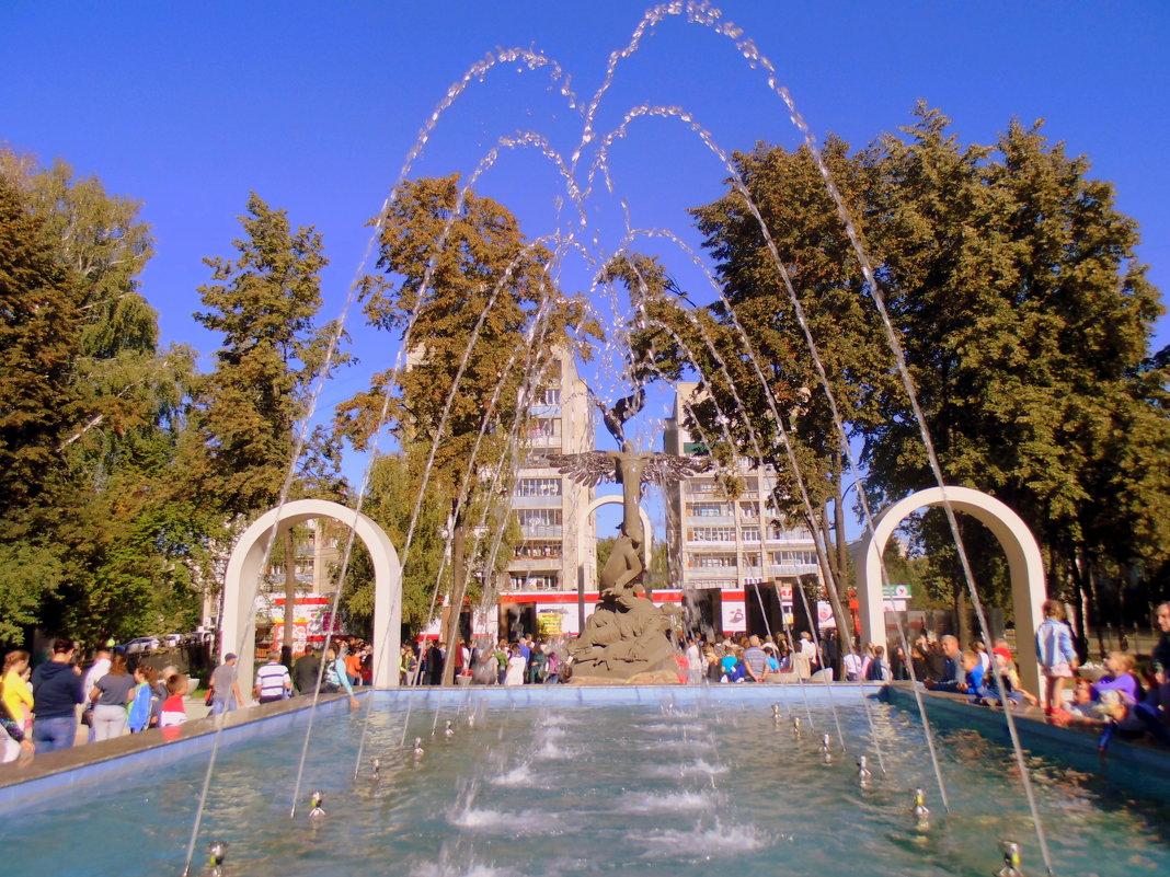 Открытие нового фонтана в Бердске. - Мила Бовкун