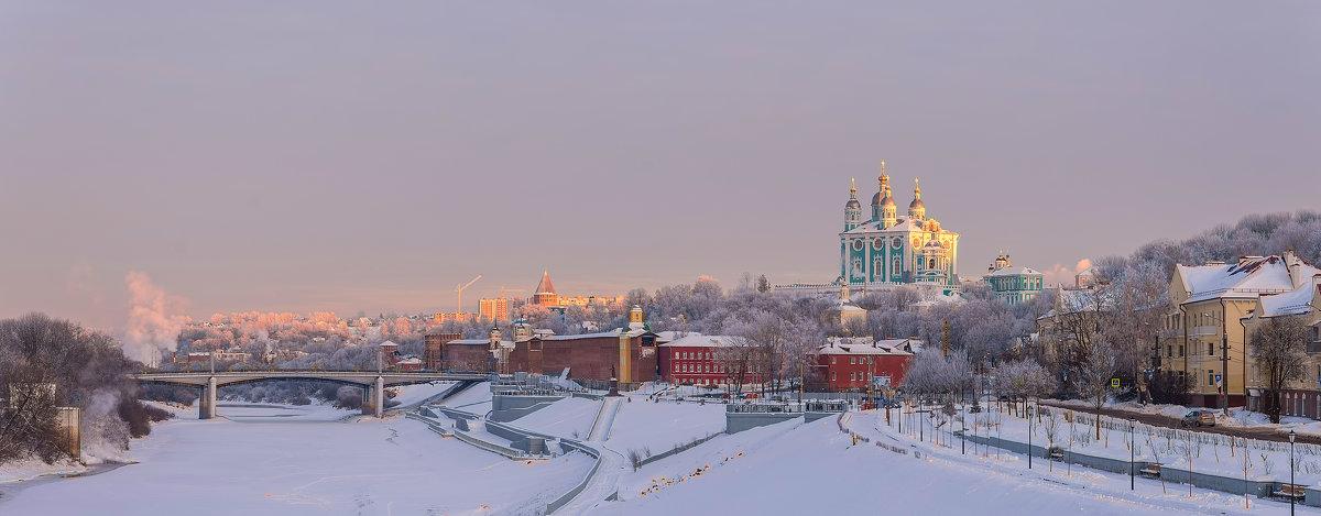 Зимний вечер в Смоленске - николай смолянкин