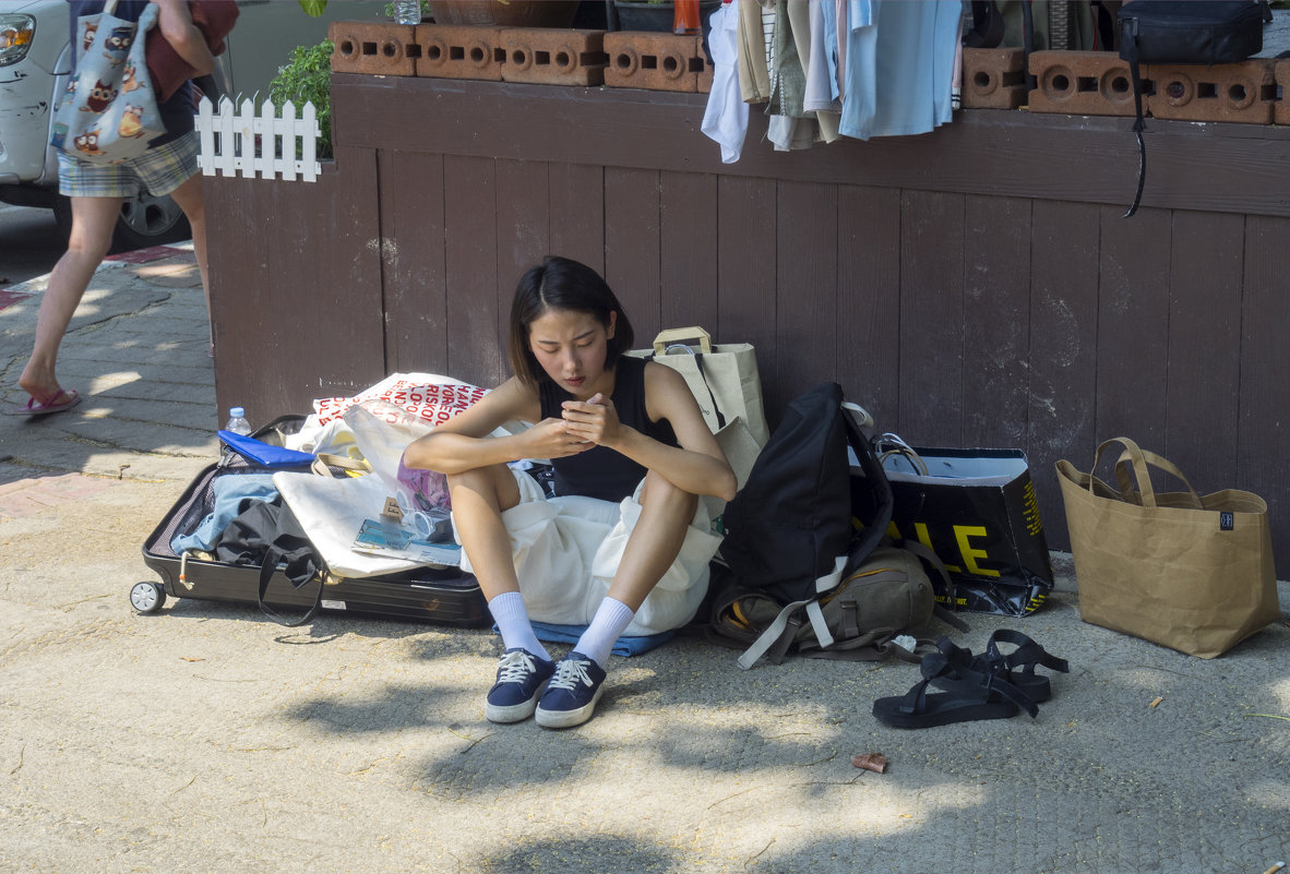 Таиланд. Паттайя. Туристка и её багаж - Владимир Шибинский