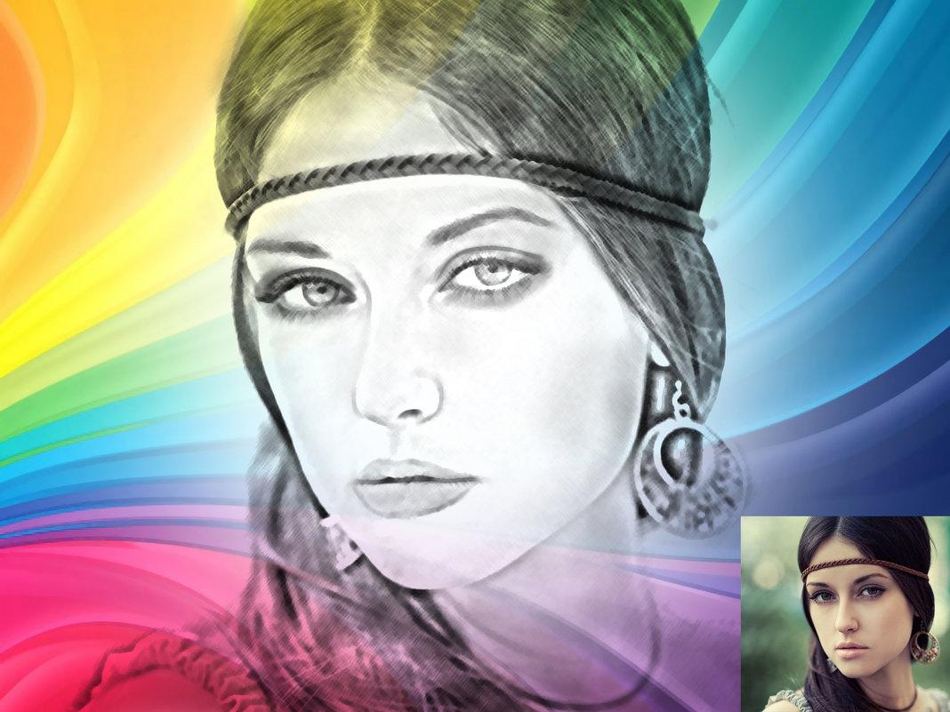 карандашный с цветом - Анастасия сосновская