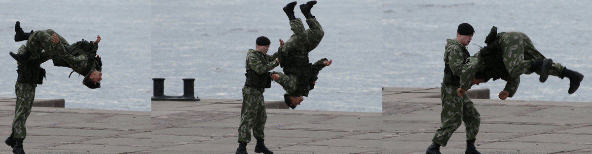 Акробатический этюд от морской пехоты..Произвольная программа.. - tipchik