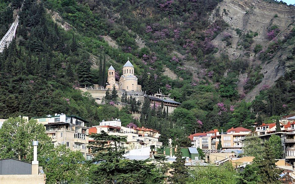 Тбилиси. Вид на гору Мтацлинда - Лидия кутузова