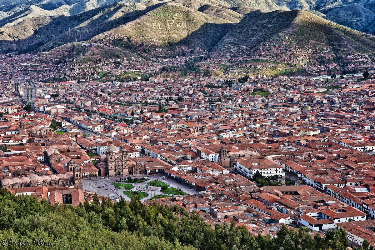 Перу. Вид на Куско с горы Христо Бланко - Андрей Левин