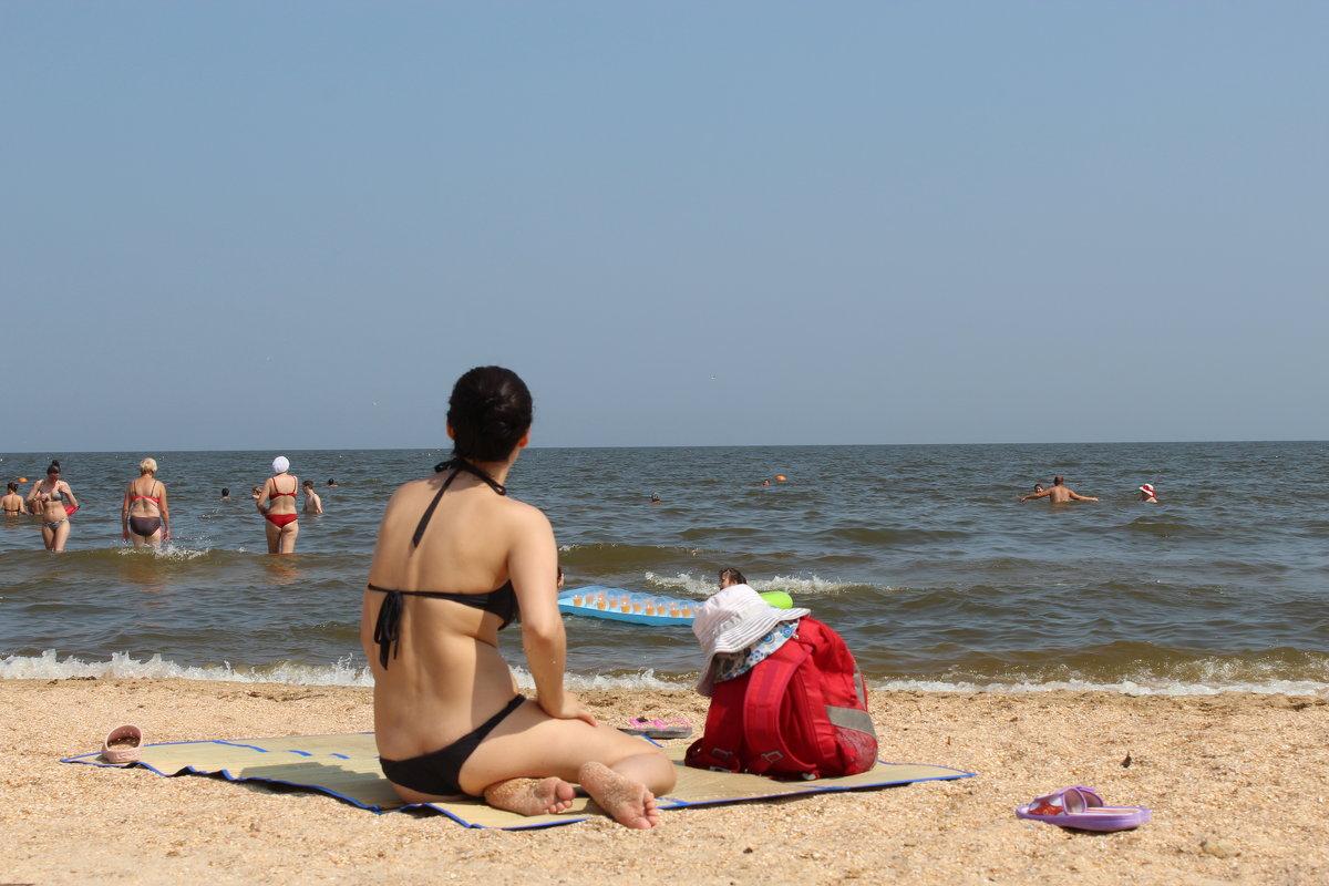 на пляже - игорь