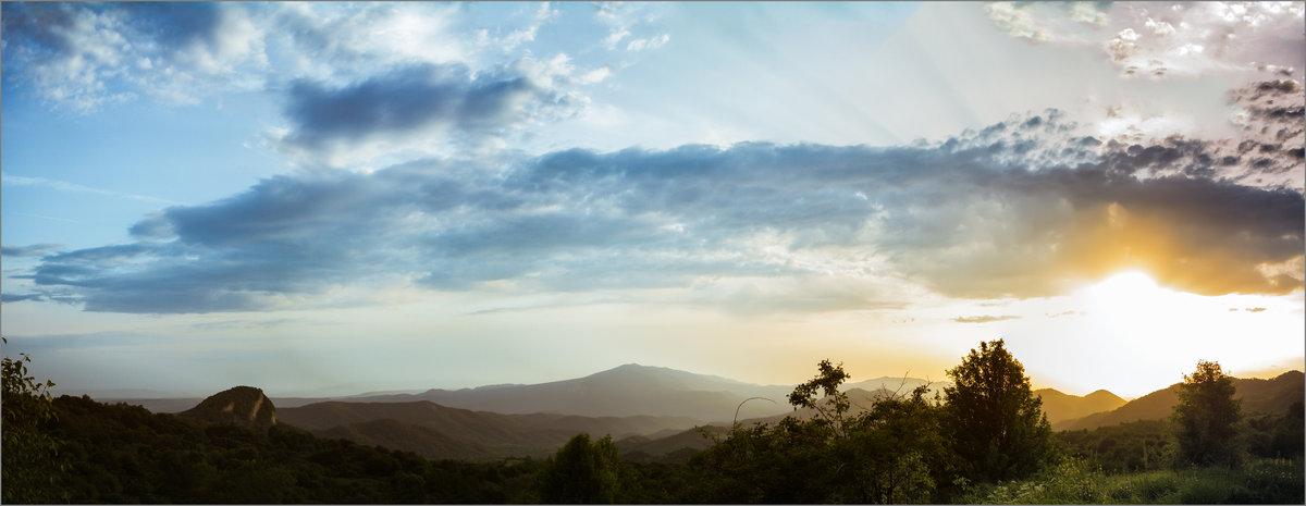 Закат в Кахетии. Panoramic version - алексей афанасьев