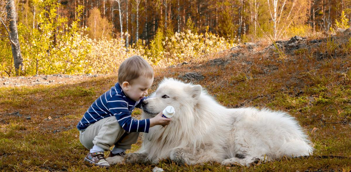 Белый Бим и мальчик Андрюха. - Алексей Зауральский