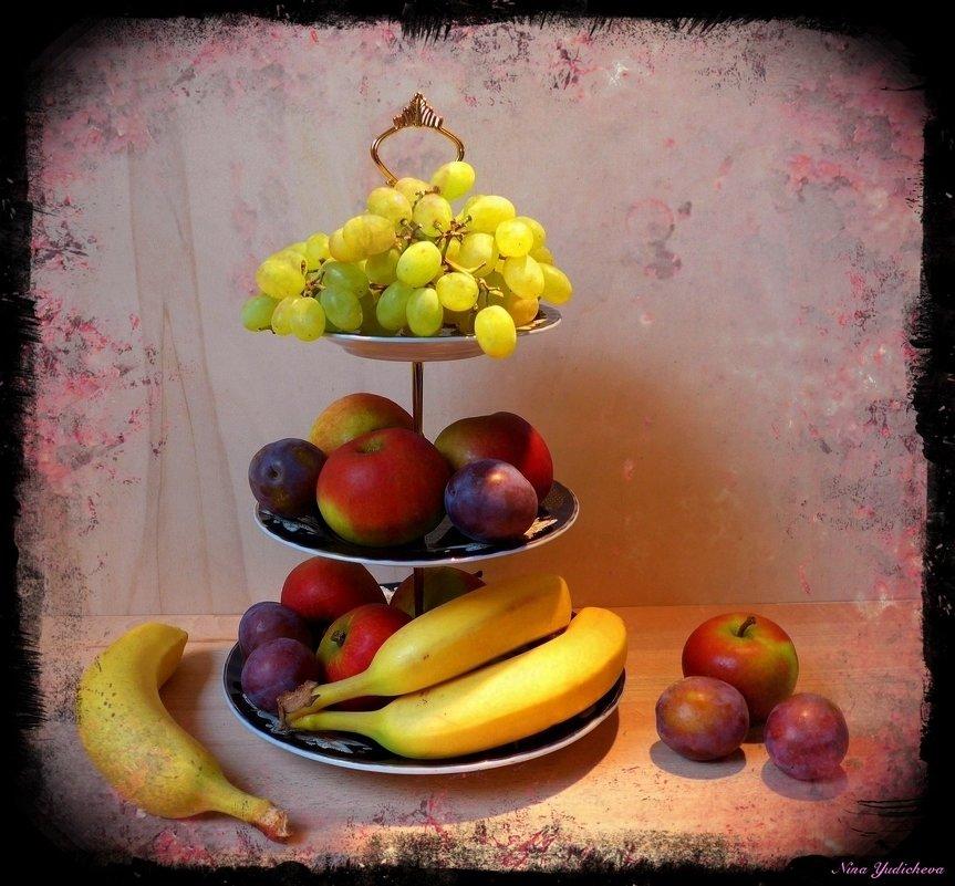 Этажерка с фруктами - Nina Yudicheva