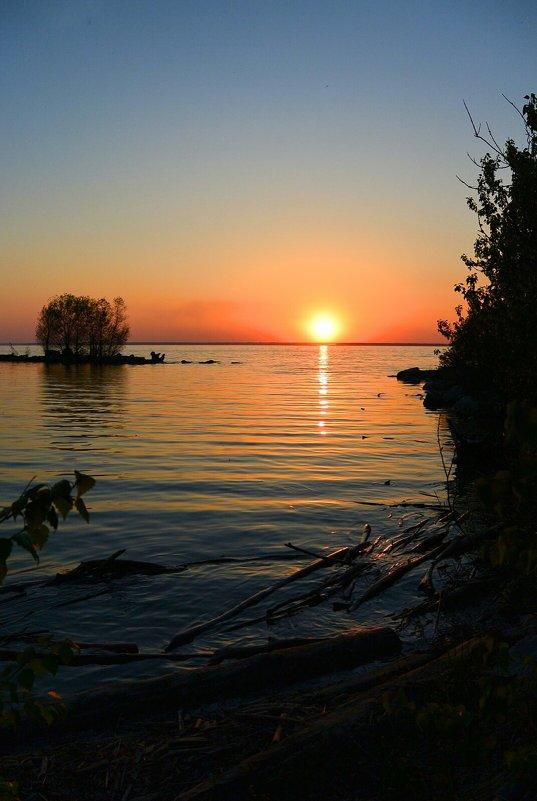 Закат над озером (2) - Милешкин Владимир Алексеевич