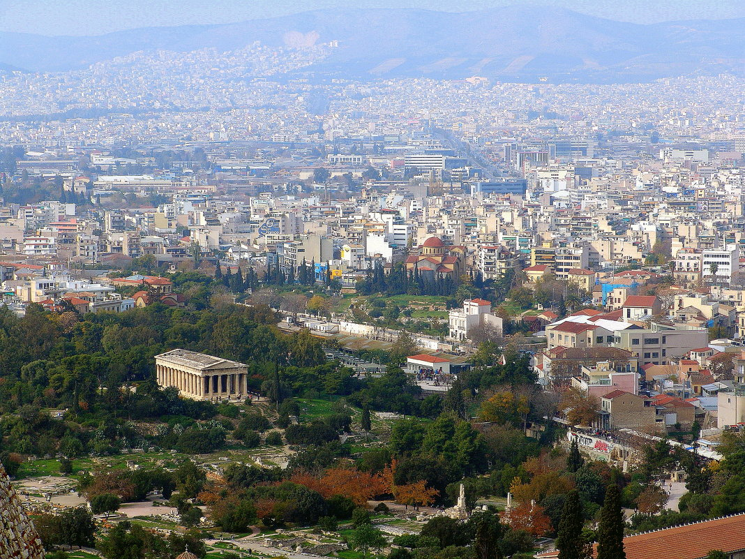 Вид на Афины  с Акрополя. - Оля Богданович