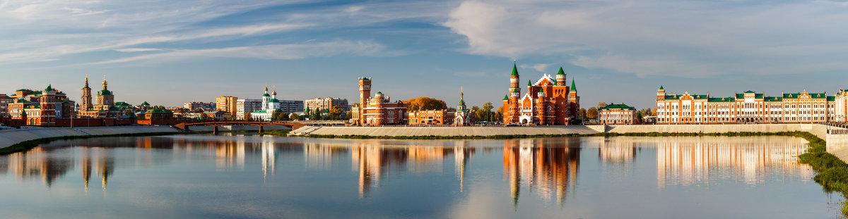 Панорама набережной Брюгге в г. Йошкар-Оле. - Андрей Гриничев