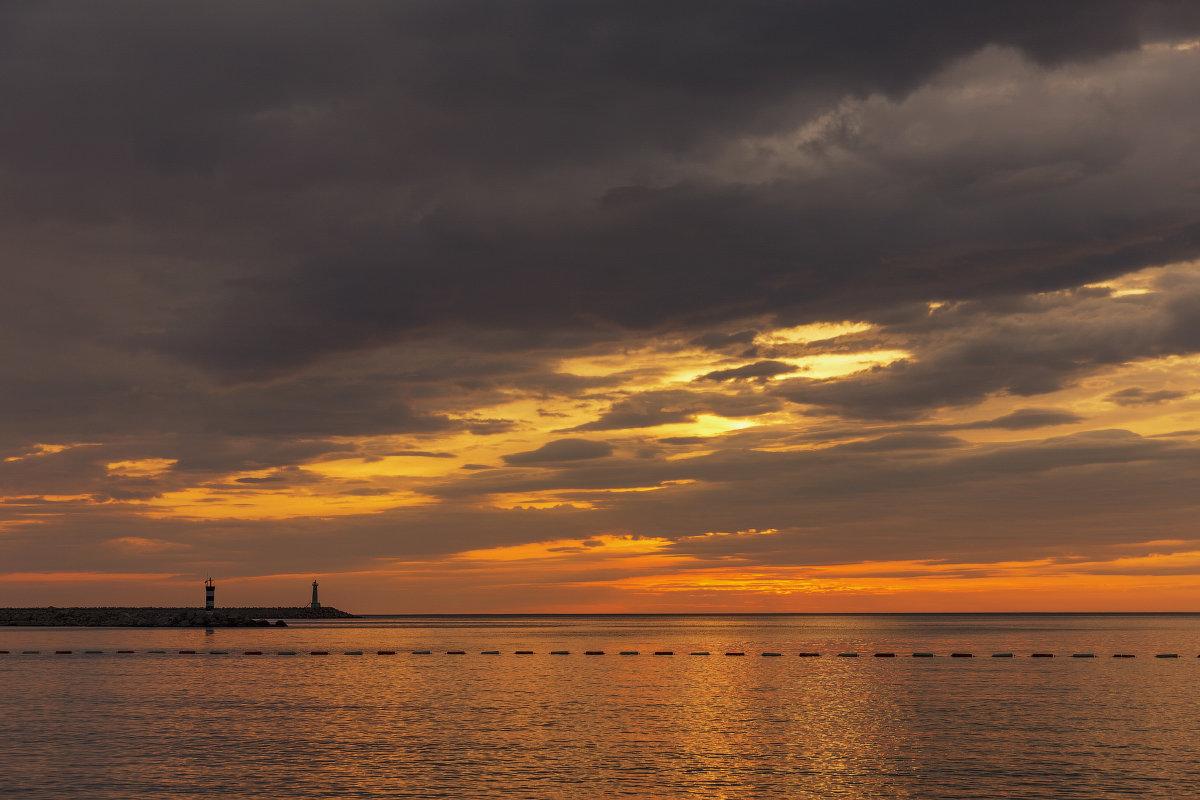 Закат над Адриатическим морем.Черногория. - Татьяна Калинкина