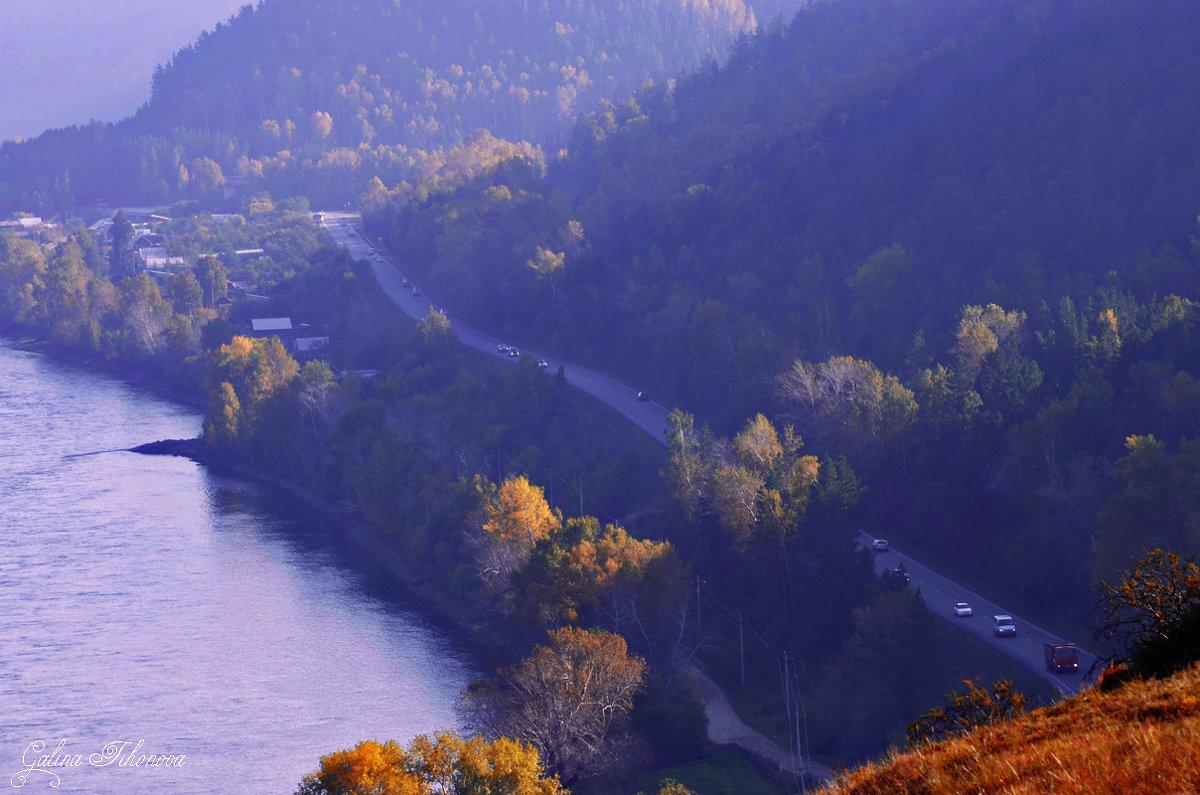 Дорога в осень - galina tihonova