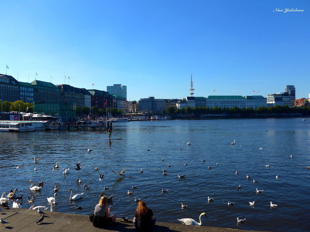 Гамбург. На озере Альстер - Nina Yudicheva