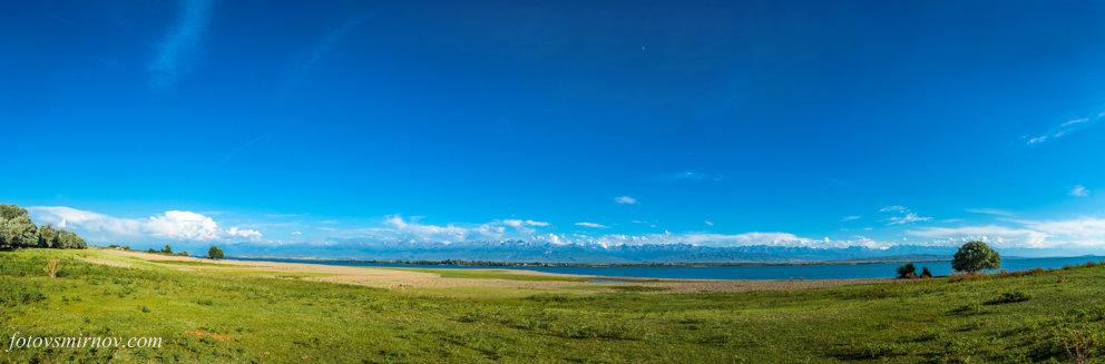 Панорама озера Иссык-Куль - Валерий Смирнов
