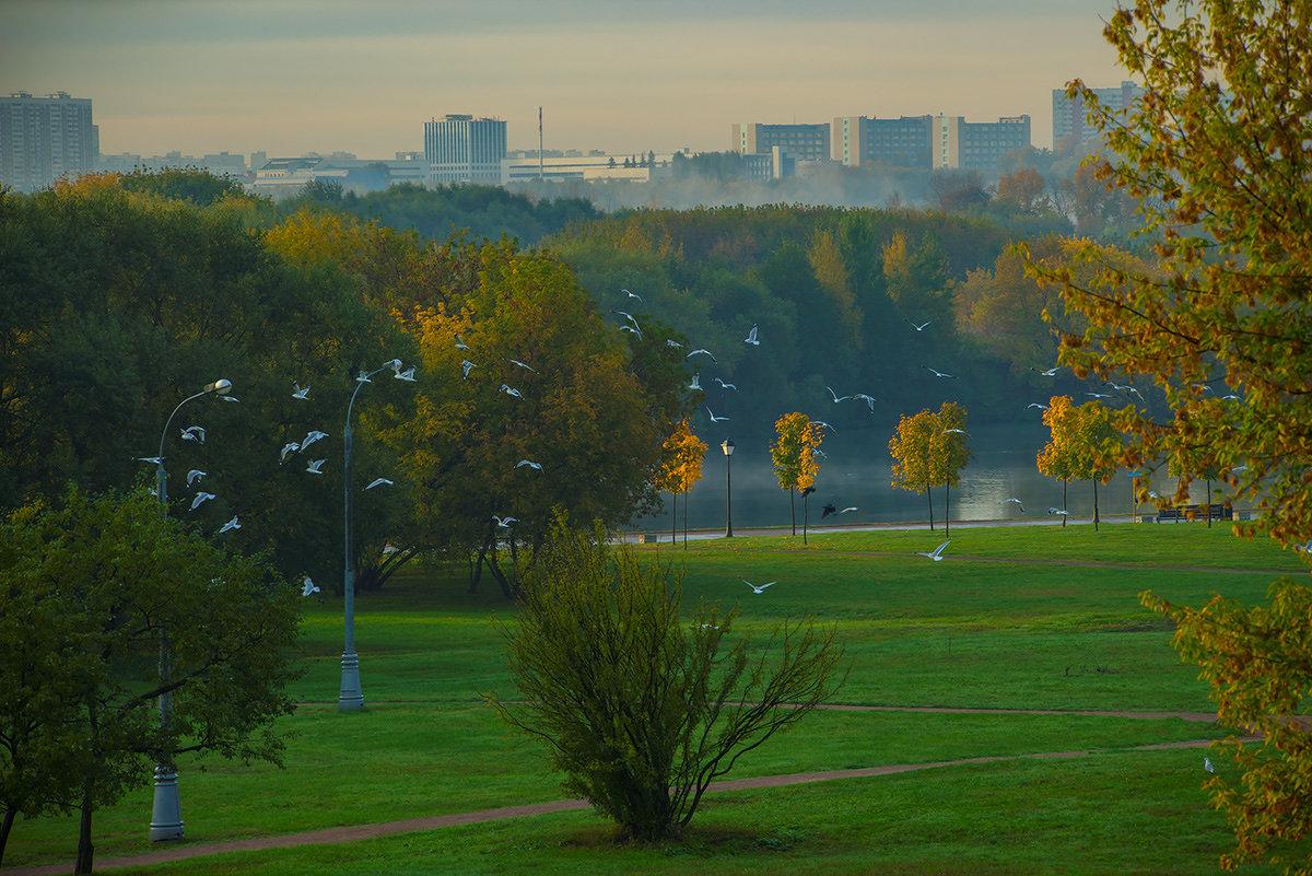 Коломенское, вид на Москву-реку - Игорь Герман