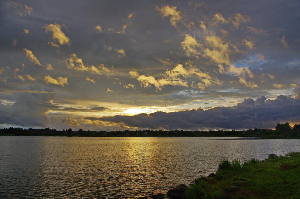 Закат над Свирским озером. - Ирина Нафаня