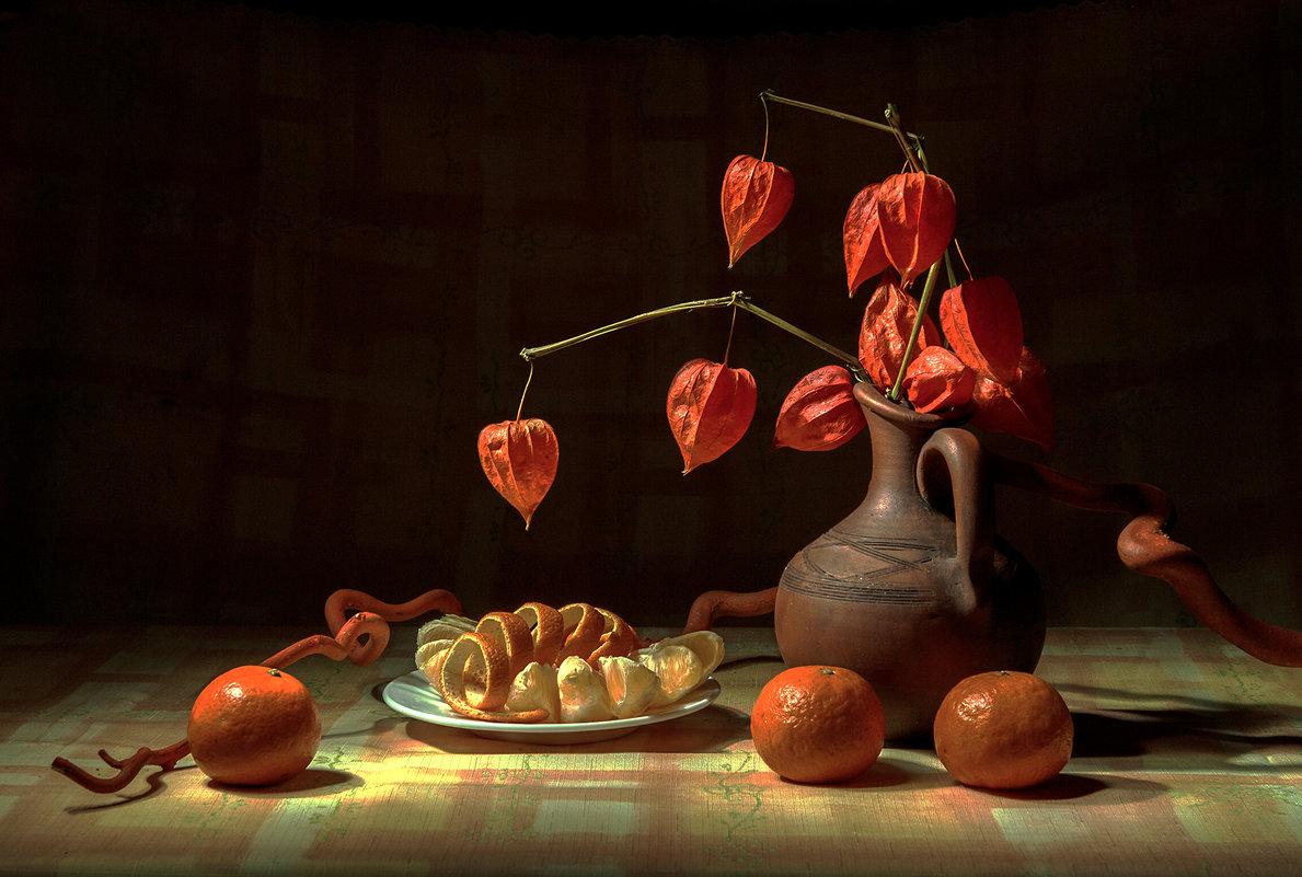 Оранжевый натюрморт - Ольга Дядченко
