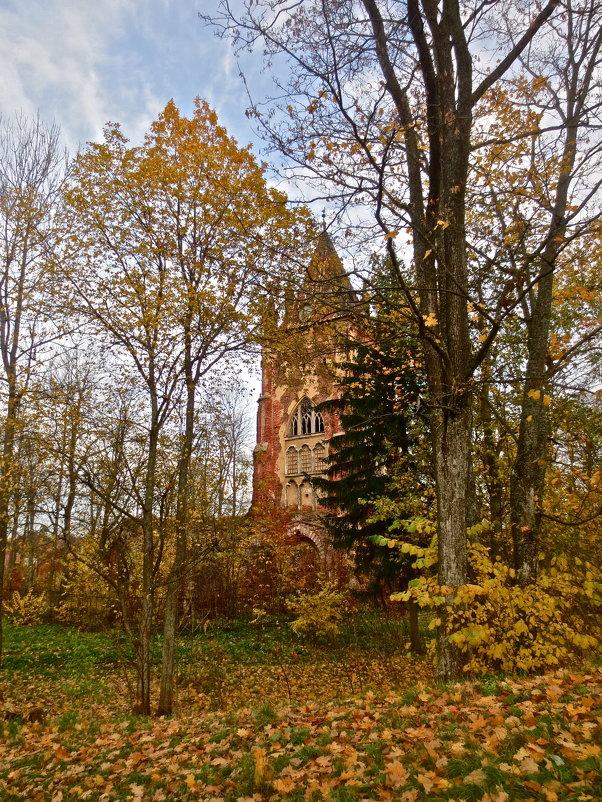 башня Шапель в Царском Селе осенью - Елена