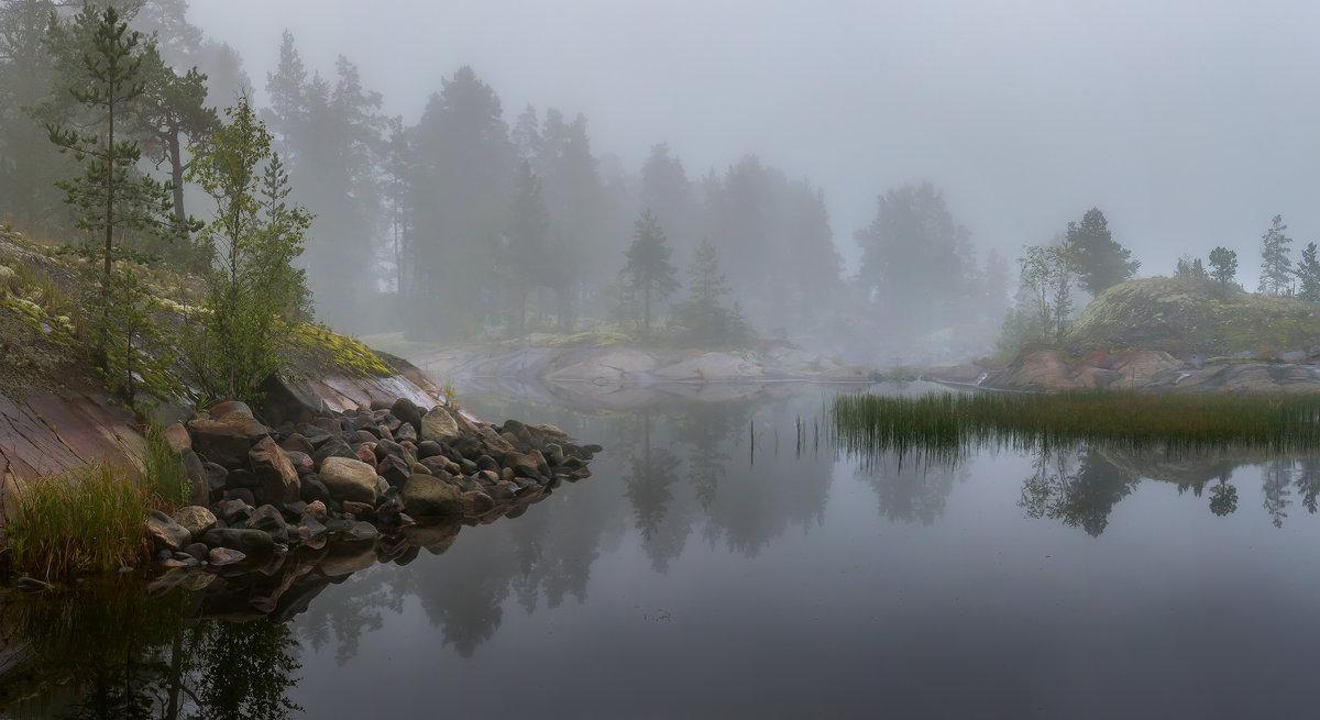 Туманно-пасмурное утро на Ладоге - Фёдор. Лашков