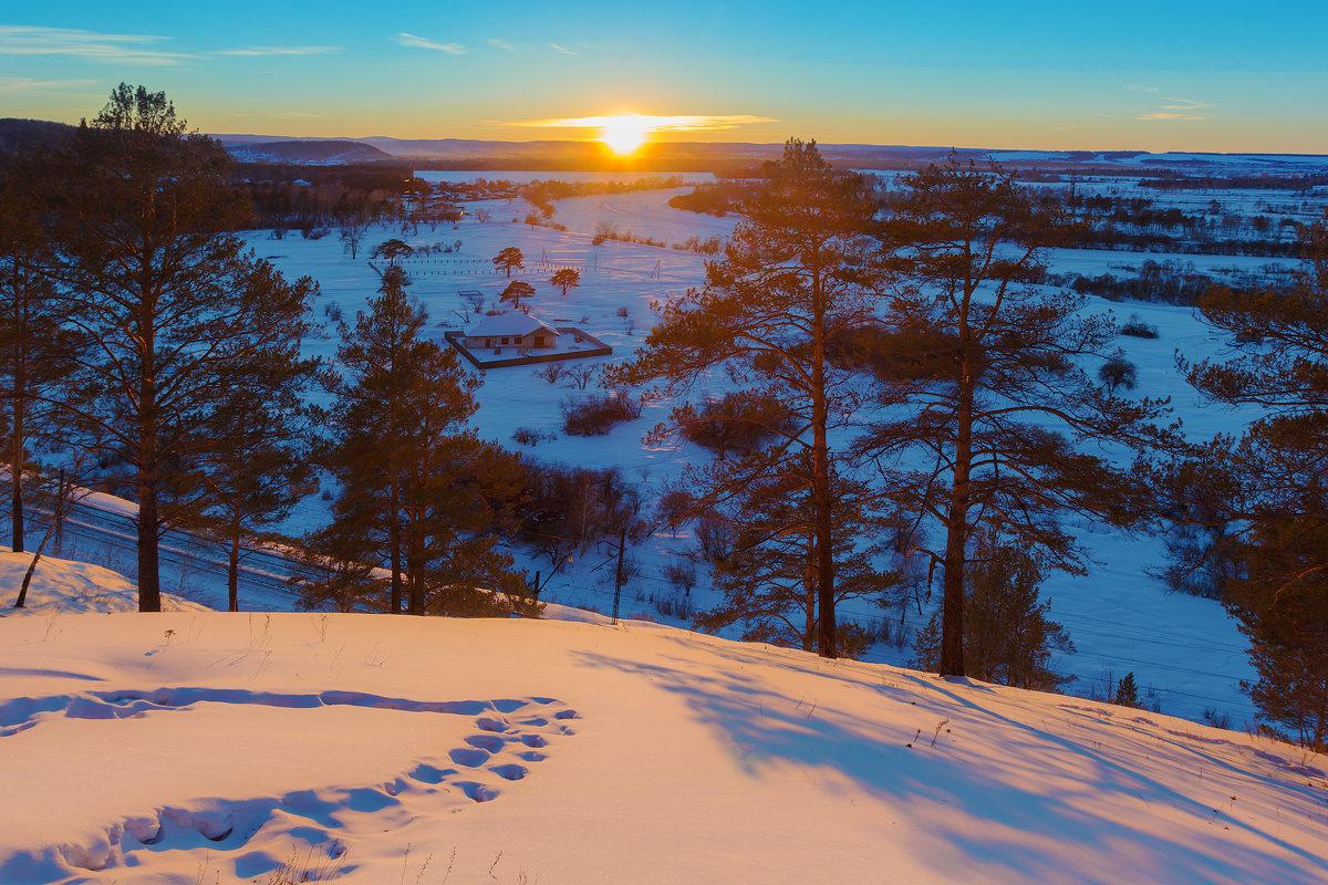 Зима. Заход солнца - Анатолий Иргл