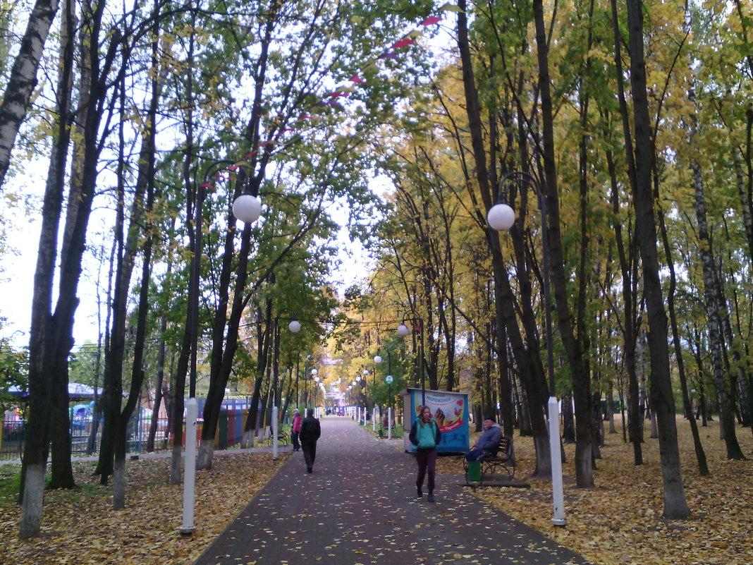 И снова осень в парке городском. - Ольга Кривых
