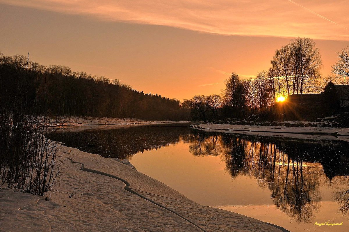 река Руза зимой - Андрей Куприянов