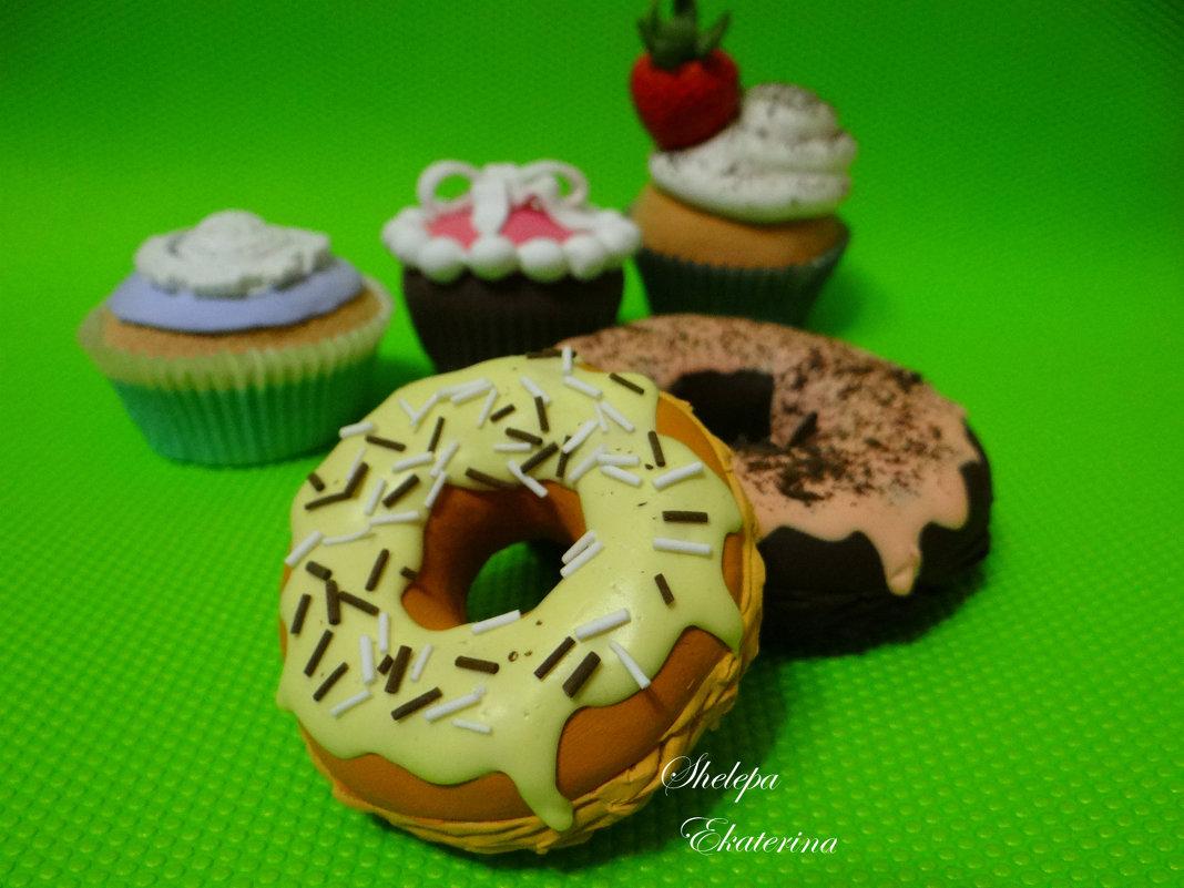 пончики из полимерной deco глины - Екатерина