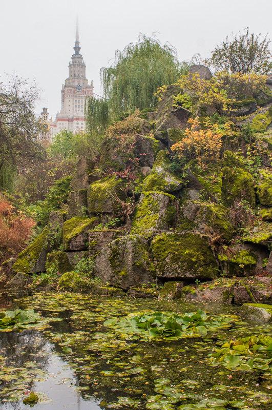 Вид на МГУ из Ботанического сада - Людмила Быстрова