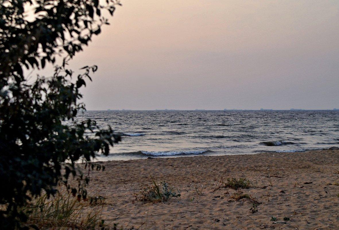 Вечереет на море Азовскомю - владимир