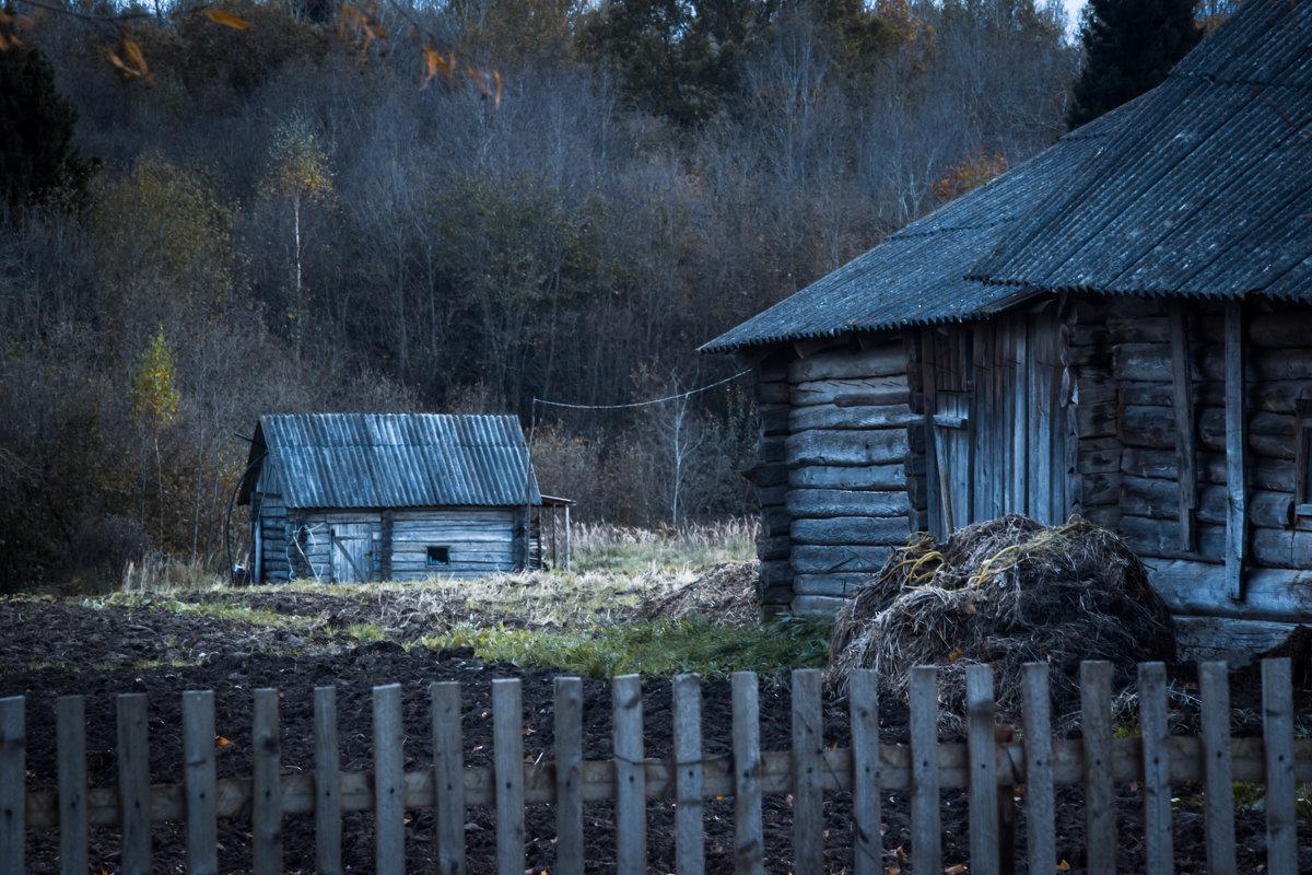 холодные осенние деревенские пейзажи - Олег