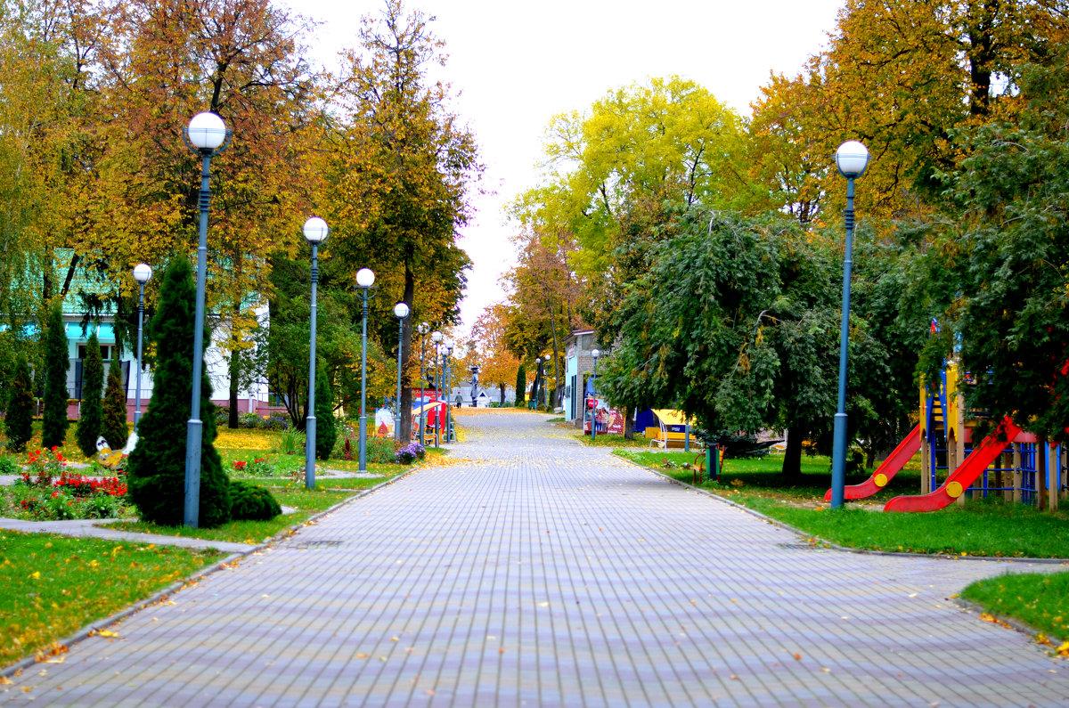 Детский парк осенью - Марина Романова