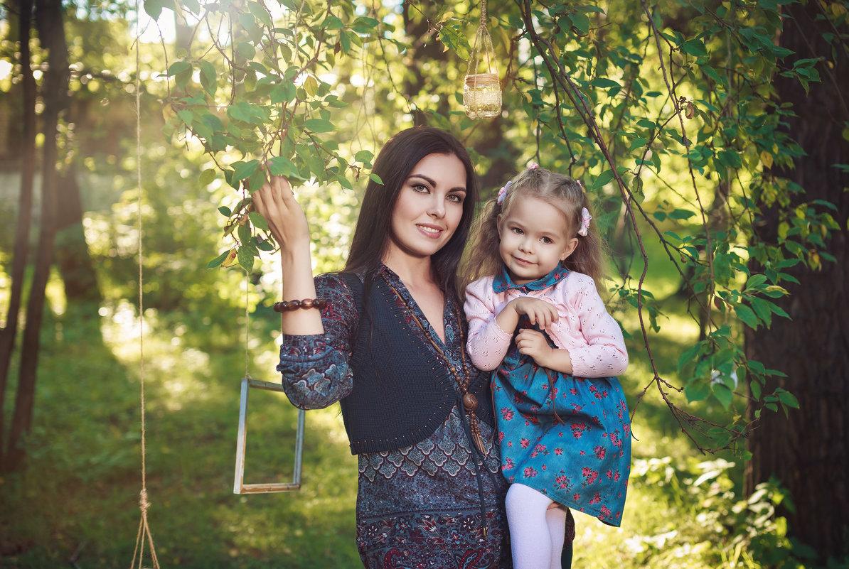 Катерина с дочкой - Мария Дергунова