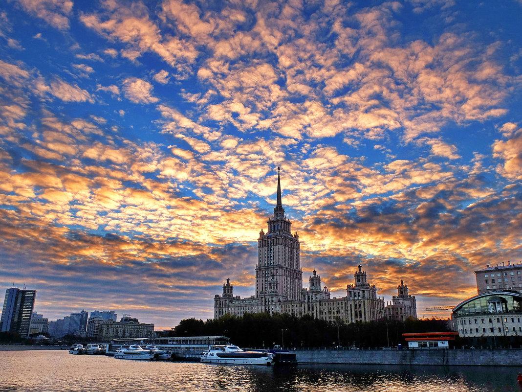 картинки рассвет на москве реке