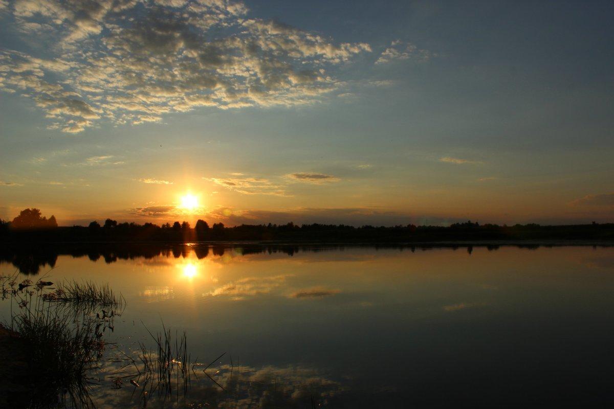 закат над рекой - оксана