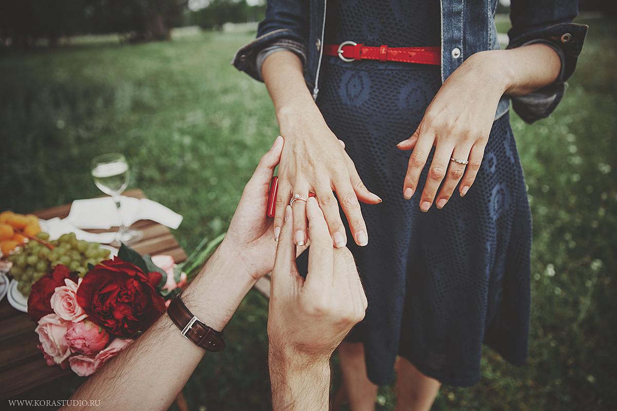 Как сделать романтичное предложение руки 770