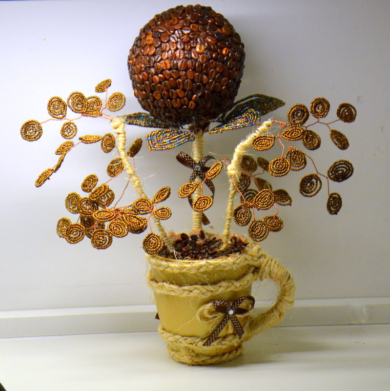 Что такое кофейный топиарий своими руками 954