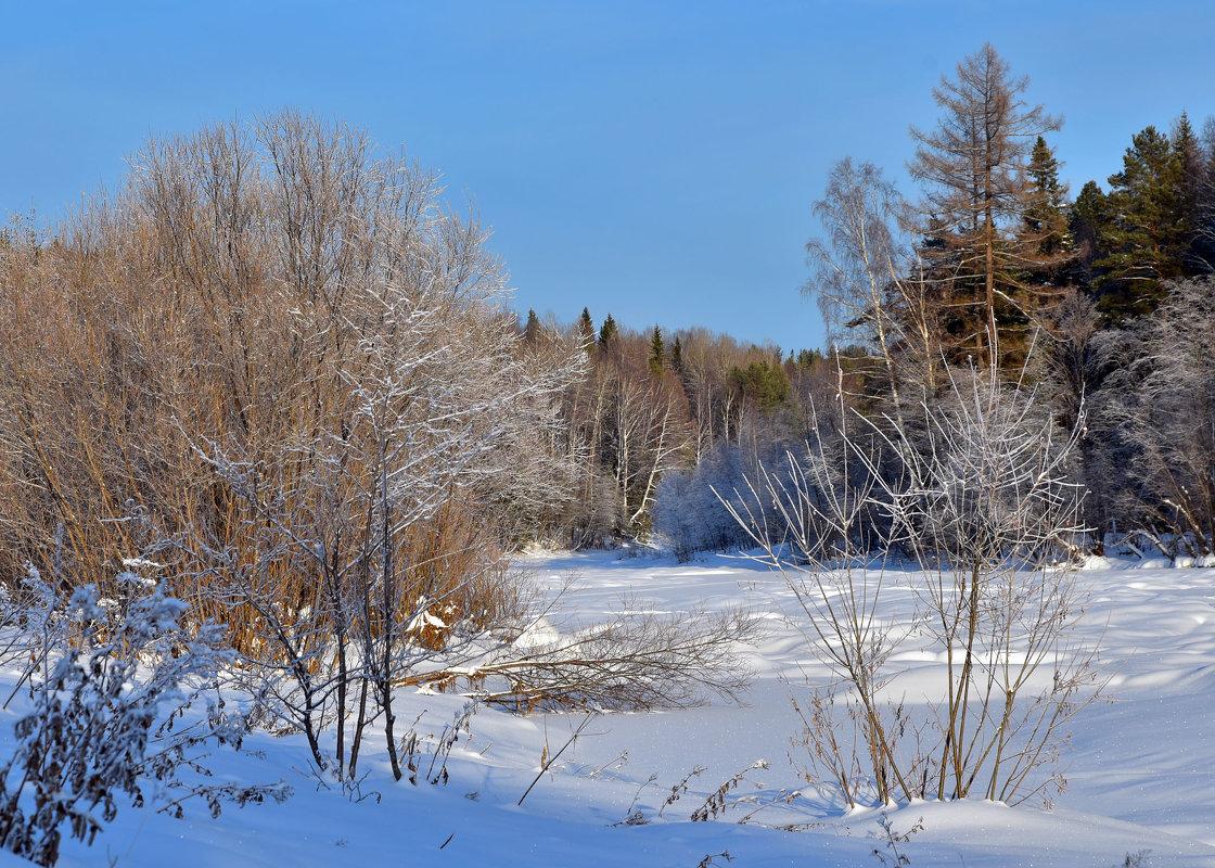 Река зимой. - Наталья
