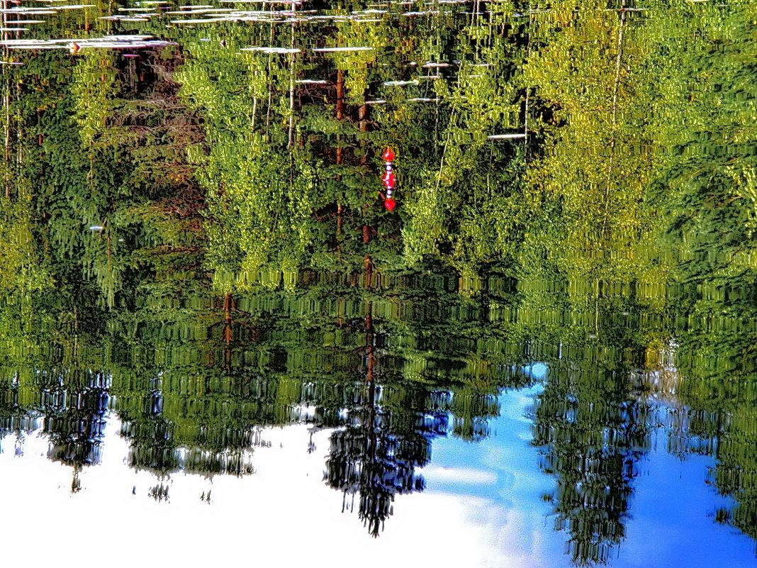В ожидании поклевки в зеркале озера.. - Владимир Ильич Батарин