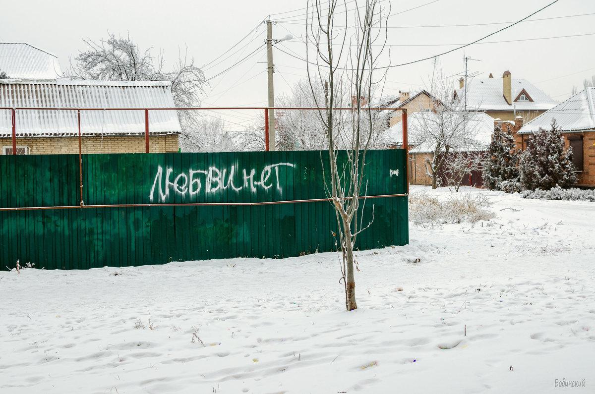 """ У любви зимой короткий век... "" - Константин Бобинский"