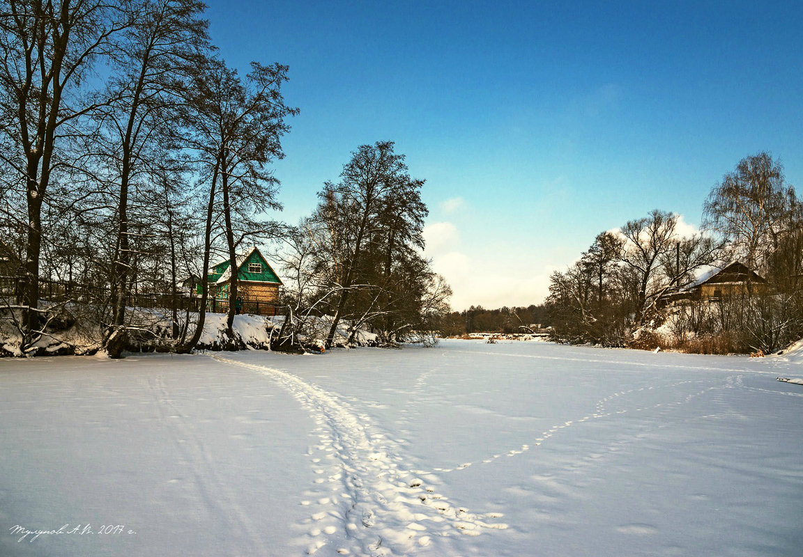 Зима на Тамбовщине. Река Цна замерла. - Александр Тулупов