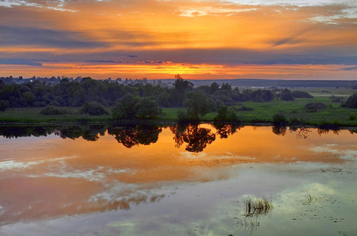 Лето...закат...отражение... - Вадим Телегин