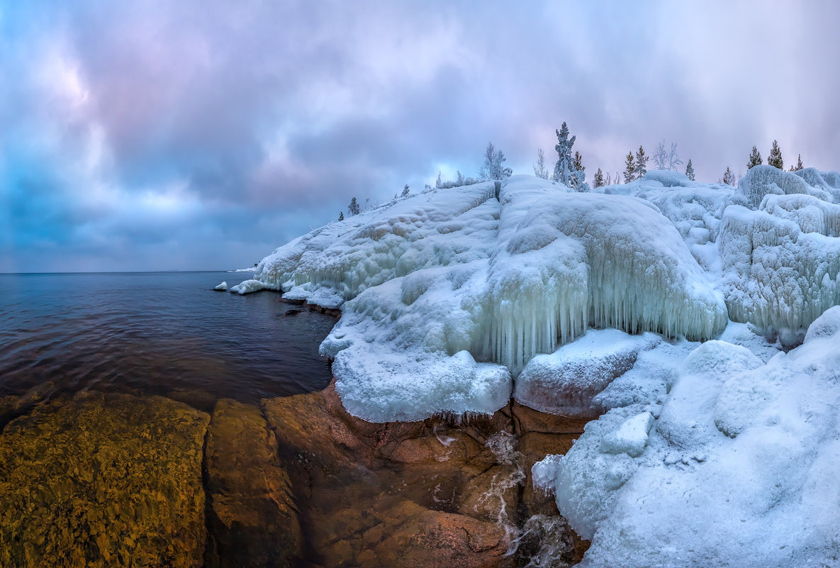 Ледяные скалы Ладоги - Фёдор. Лашков