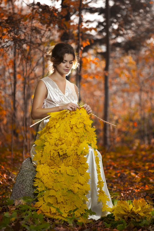 Осень и вязание фото