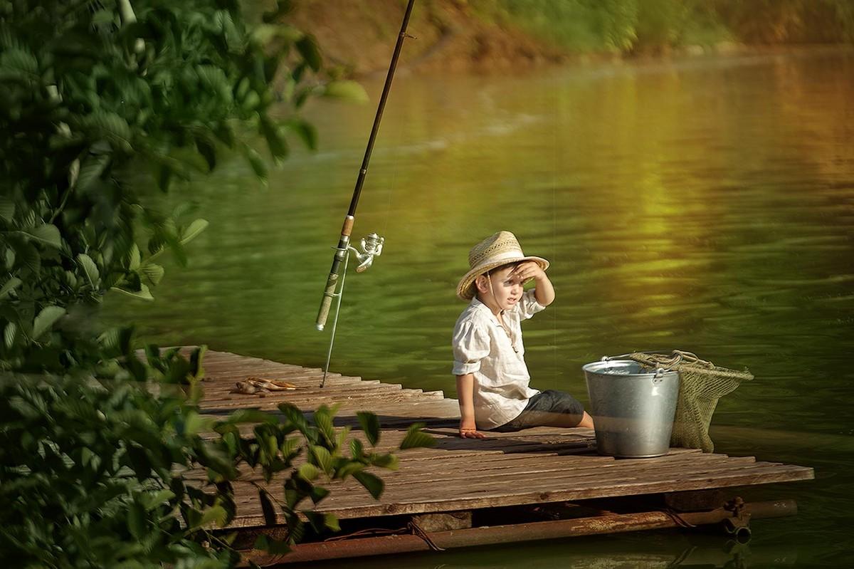 ребенок рыбака