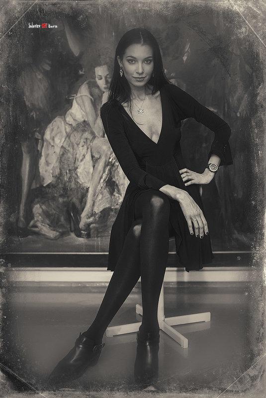 Елена Бызова в галерее Артконстантис - Борис Соловьев