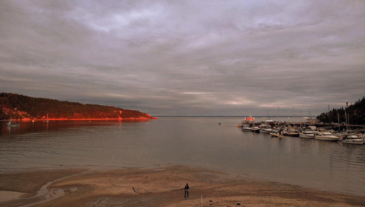 закат солнца в бухте Тадуссак - Alex