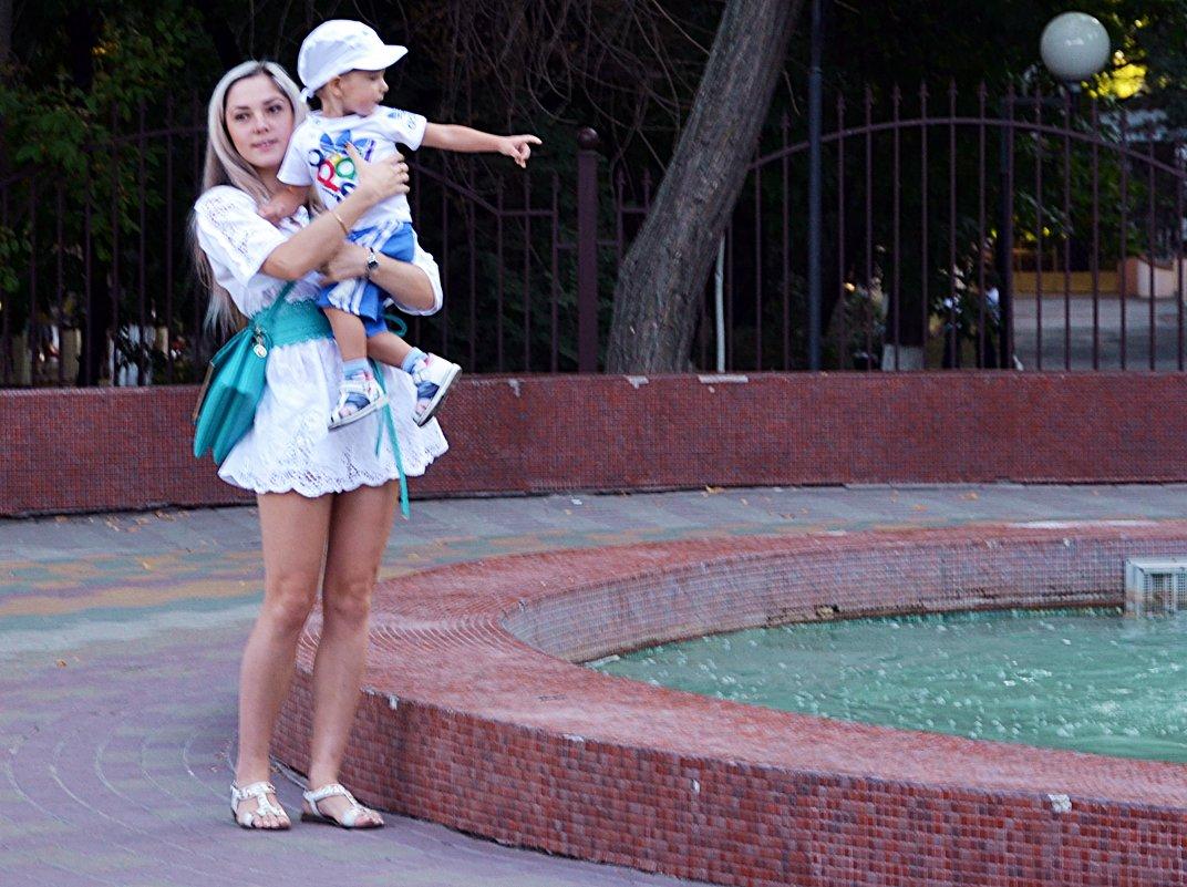 Мама у фонтана - Владимир Болдырев