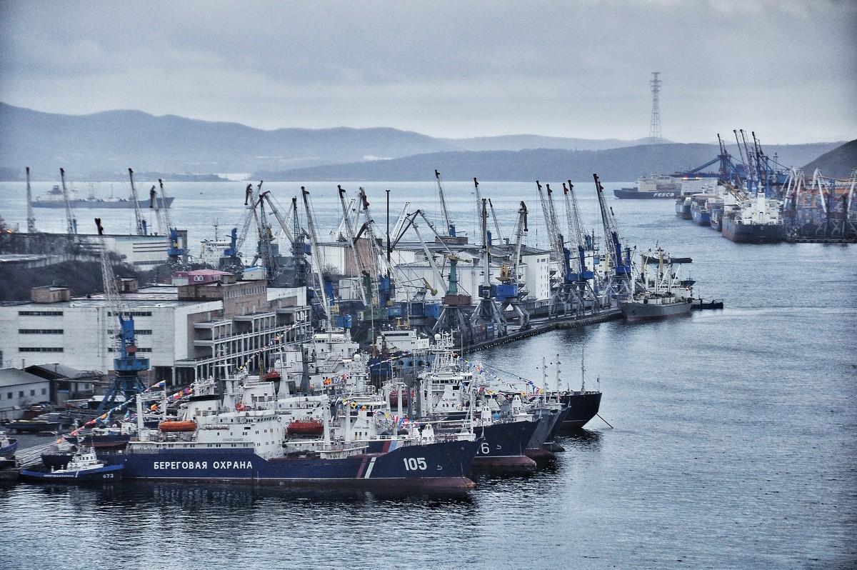владивосток порт рыбаки