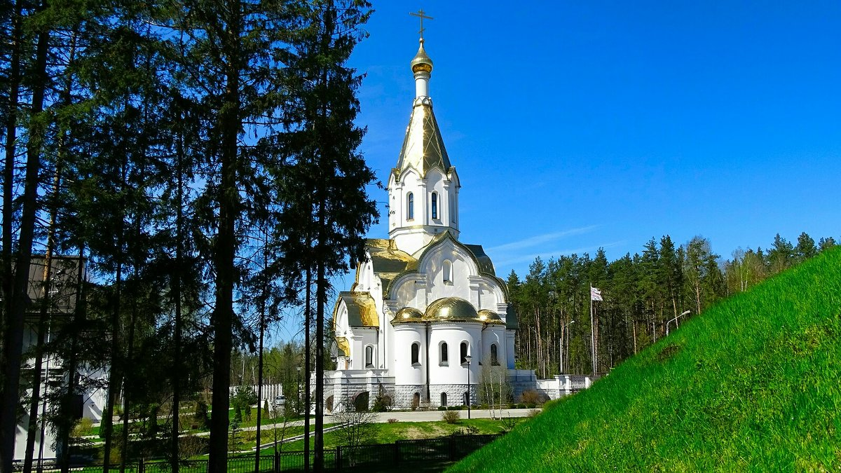 Православный храм у мемориала в Катыни - Милешкин Владимир Алексеевич